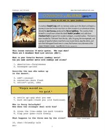 COWBOYS & ALIENS, Whole-Movie English (ESL) Lesson | eBooks | Education