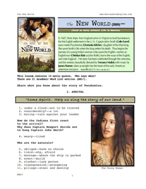 THE NEW WORLD, Whole-Movie English (ESL) Lesson | eBooks | Education