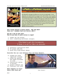 THE FAST AND THE FURIOUS: TOKYO DRIFT, Whole-Movie English (ESL) Lesson | eBooks | Education