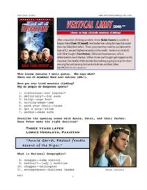 vertical limit, whole-movie english (esl) lesson