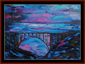 Mystic Bridge - Dan Scharf  cross stitch pattern by Cross Stitch Collectibles   Crafting   Cross-Stitch   Other