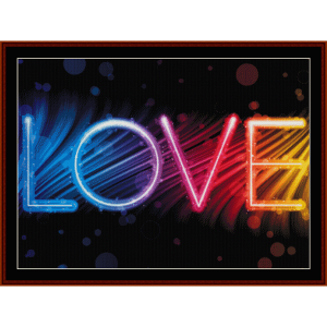 Love - Whimsical cross stitch pattern by Cross Stitch Collectibles | Crafting | Cross-Stitch | Wall Hangings