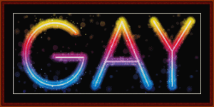gay - whimsical cross stitch pattern by cross stitch collectibles