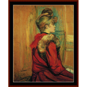 girl in a fur - lautrec cross stitch pattern by cross stitch collectibles