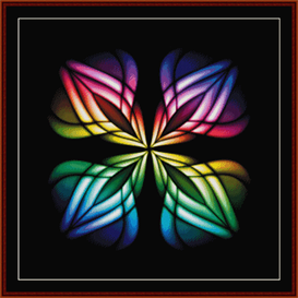 fractal 359 cross stitch pattern by cross stitch collectibles