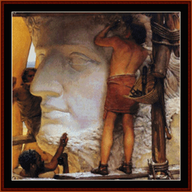 Sculptors in Ancient Rome - Alma Tadema cross stitch pattern by Cross Stitch Collectibles | Crafting | Cross-Stitch | Other