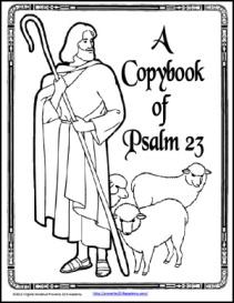A Copybook of Psalm 23   eBooks   Education