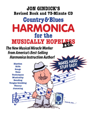 country & blues harmonica for the musically hopelesse- book and cd