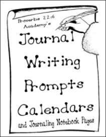 Proverbs 22:6 Academy's Journal Writing Prompts Calendars and Journaling Notebook Pages   eBooks   Education