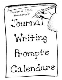 Proverbs 22:6 Academy's Journal Writing Prompts Calendars   eBooks   Education