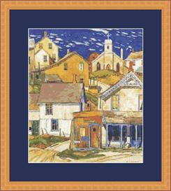 hillside village cross stitch pattern