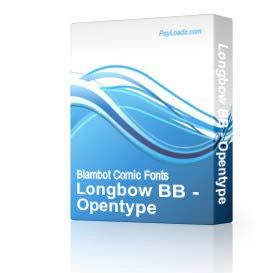 Longbow BB - Opentype   Software   Design