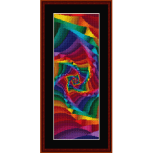 fractal 362 bookmark cross stitch pattern by cross stitch collectibles