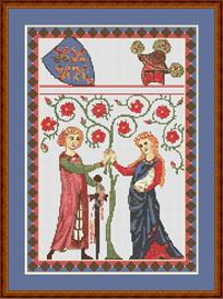 codex manesse no. 55 cross stitch pattern