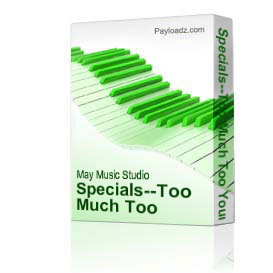 Specials--Too Much Too Young--Drum Tab | Music | Reggae