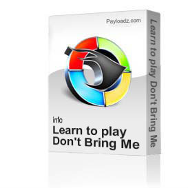 Learn to play Don't Bring Me Down by The Beatles | Movies and Videos | Educational
