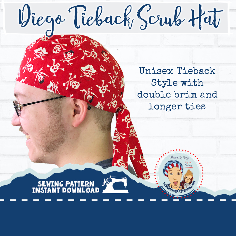Men s Tieback Surgical Scrub Hat Sewing Pattern  819fed110a8