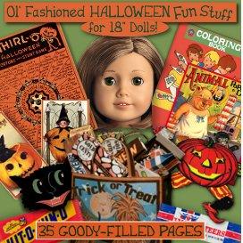 american girl halloween printout funstuff e-booklet