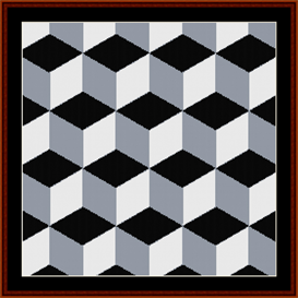 Fractal 308 cross stitch pattern by Cross Stitch Collectibles | Crafting | Cross-Stitch | Wall Hangings