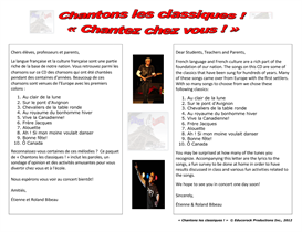 all 10 music videos (from dvd chantons les classiques !)