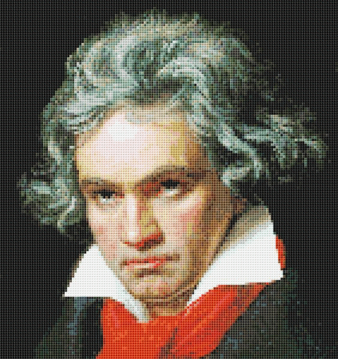 First Additional product image for - Beethoven Cross Stitch Pattern