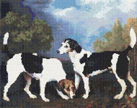 hounds cross stitch pattern