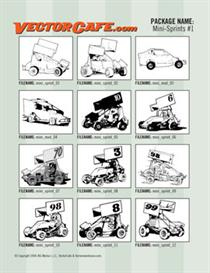 mini sprints vector clip art #1