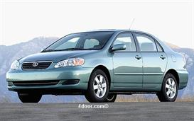 2007 toyota corolla mvma specifications