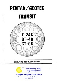 pentax / geotec transit instruction book