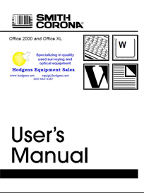 smith corona office 2000 memory typewriter manual