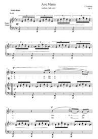 ave maria soprano or tenor- schubert key b flat -digital sheet music download for weddings