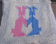 bunnies in love colorwork
