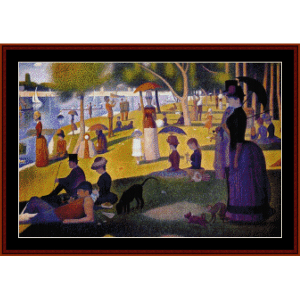 sunday afternoon in the park - seurat cross stitch pattern by cross stitch collectibles