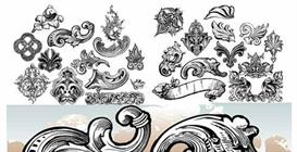 Scrolls and flourishes vector illustration set | Photos and Images | Digital Art