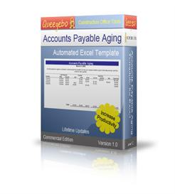 Accounts Payable Aging Worsheet excel template | Software | Business | Other