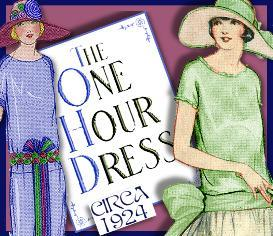 1920's one hour dress -make your own patterns! versatile!