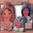 Toddler's 1920's FELT CLOCHE hat -3 STYLES! | eBooks | Arts and Crafts