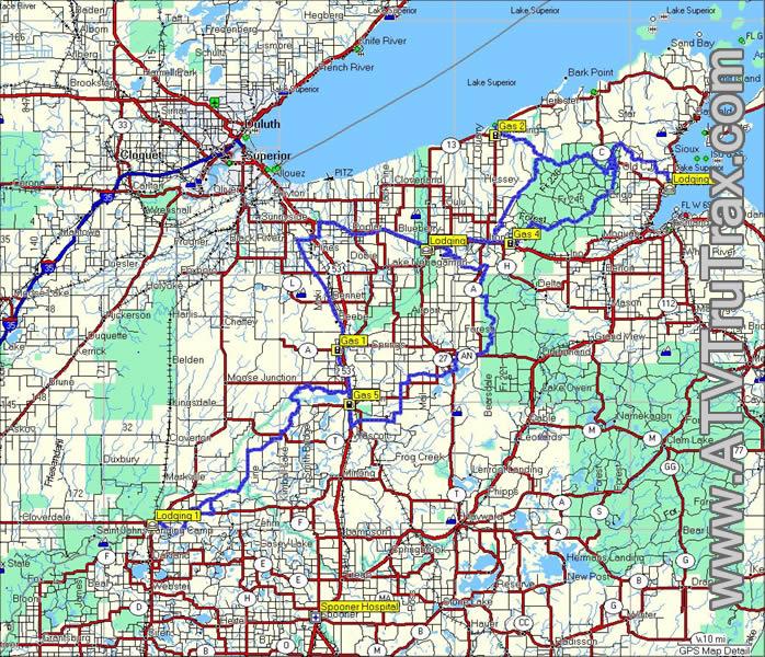 Bayfield County ATV Trails GPS Map