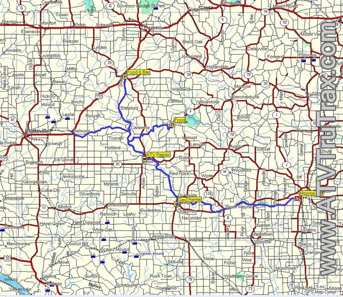 Cheese Country Trail ATV GPS Map | Other Files | Doents and Forms on