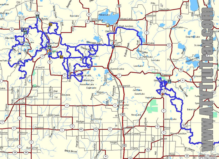 Lincoln County Langlade County ATV Trails GPS Maps