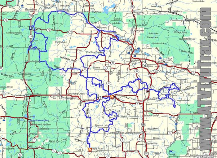 Marinette County ATV Trail GPS Map