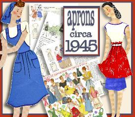 ~make 21 retro aprons ~1945 pattern~
