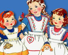 make sweet lil' girl aprons today~3 styles~3 sizes