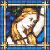 mini stained glass i cross stitch pattern