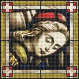 mini stained glass ii  cross stitch pattern