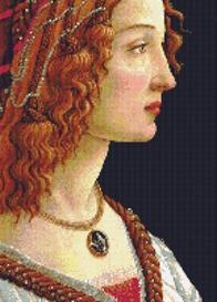 portrait of a lady cross stitch pattern