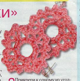 knit earings from russia.
