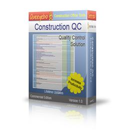 construction project quality control in excel