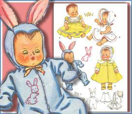 sew bitty baby a vintage layette~old pattern~