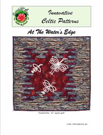 at the water's edge modern bias applique pattern